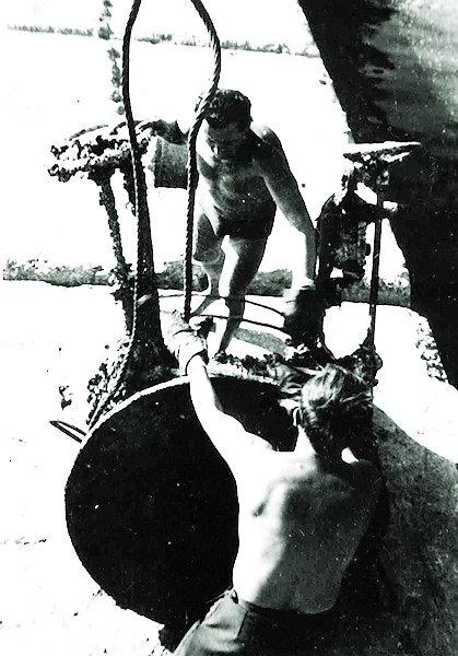 Лафет орудия ЭМ «Фрунзе»