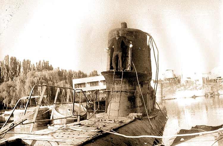 ПЛ С-165 после подъема