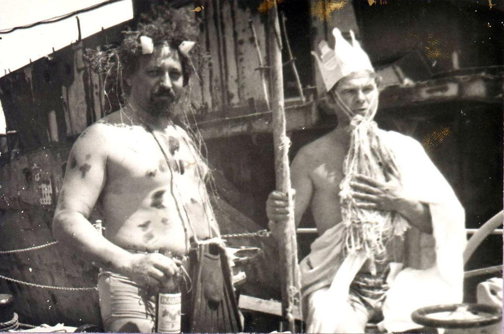 Кузнецов и Туровский на дне Нептуна