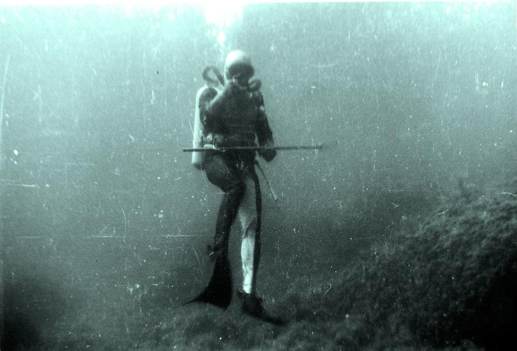 Аквлангист в толще вод