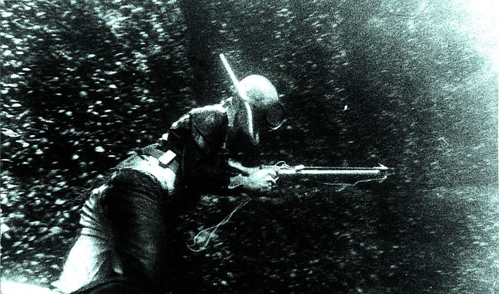На подводной охоте