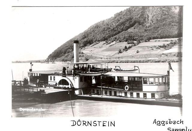 колесный пароход DURENSTAIN (ДЮРЕНШТАЙН)