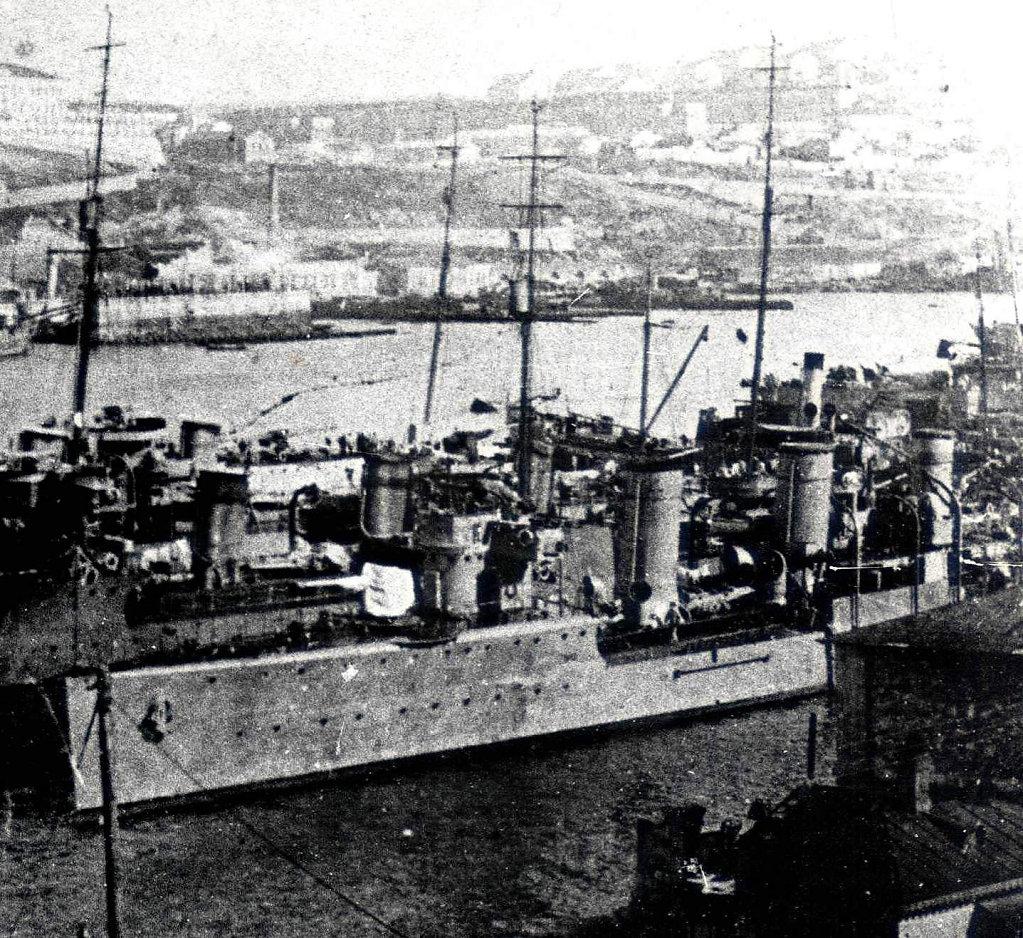 ЭМ БЫСТРЫЙ (впоследствии — ФРУНЗЕ)  и другие в Севастополе 1918 г.