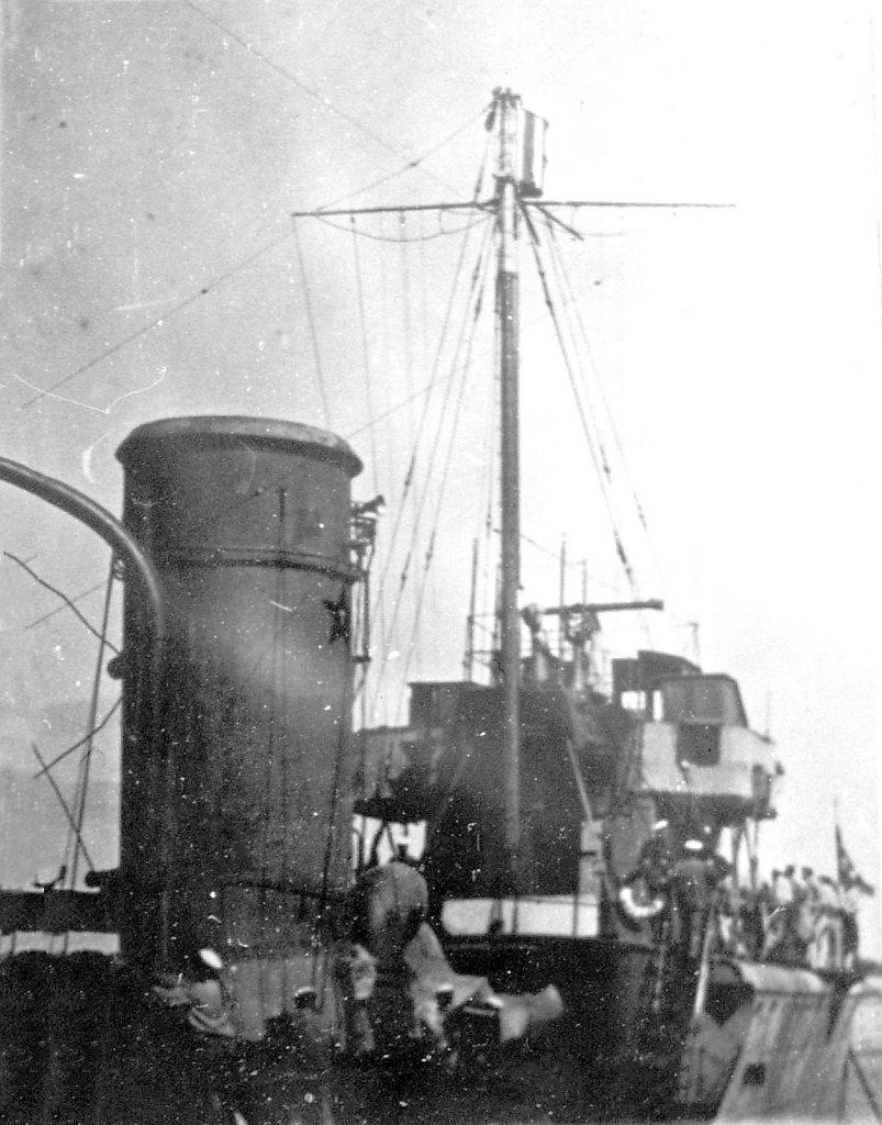 Вид задней части боевой рубки ЭМ ФРУНЗЕ
