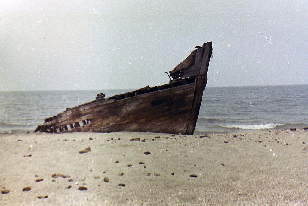 Остов деревянного судна